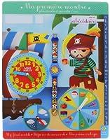Baby Watch - Abc Corsaire - Montre Garçon - Quartz Pédagogique 3-6 ans - Cadran Jaune - Bracelet Plastique Bleu