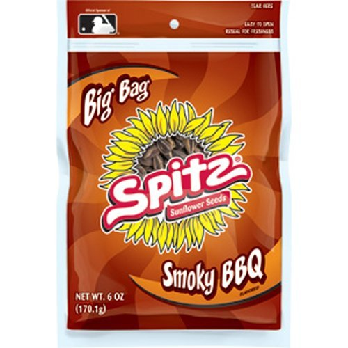 SPITZ Smoky Sunflower Seed, BBQ, 6-Ounce (Pack of 12) (Sunflower Seeds Spitz compare prices)