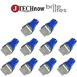 Jtech 10 x T5, 5050 SMD LED Blue Instrument Panel Dash Light Bulb 74 17 18 37 70 2721