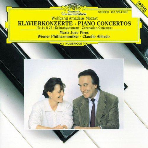 """Mozart - Piano Concertos No. 14 � No. 26 """"Coronation Concerto"""" / Pires � Wiener Phil. � Abbado"""