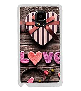 Love 2D Hard Polycarbonate Designer Back Case Cover for Samsung Galaxy Note 4 :: Samsung Galaxy Note 4 N910G :: Samsung Galaxy Note 4 N910F N910K/N910L/N910S N910C N910FD N910FQ N910H N910G N910U N910W8