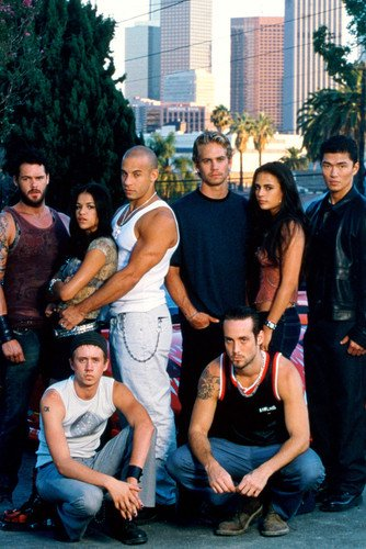 Paul Walker, Vin Diesel, Michelle Rodriguez, Jordana Brewster and Rick Yune in The Fast and the Furious 24x36 Poster