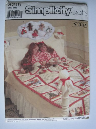 Simplicity Pattern 8215 Holiday Comforter, Ornaments, Wreath, Advent Calendar