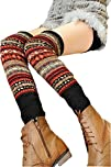 V28 Women Lady Fashion Knee High Leg Winter Bohemian Knit
