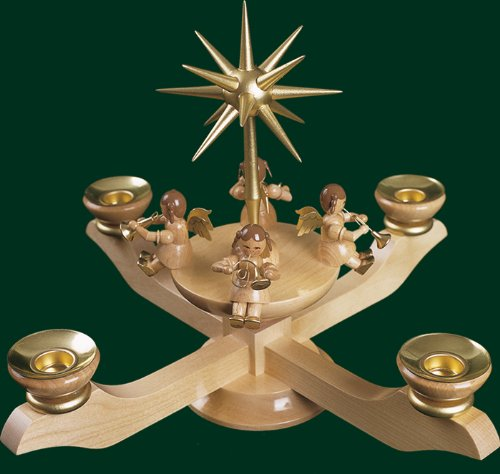 Advent candle holder candle holder Christmas candle holder38cm Ore Mountains NEW