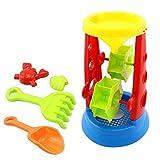 Topix 5 Pcs Set Of Beach Sand Castle Water Bath Children Education Sandy Toys Sand Clock Spade Tools