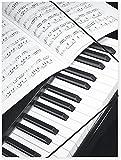 Chemise A4+ avec élastiques - Piano et partition - Cadeau musique