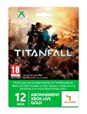 echange, troc Carte Abonnement Xbox Live Gold 12 mois + 1 mois offert - Edition Titanfall