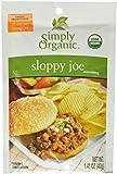 Simply Organic Sloppy Joe, Seasoning Mix, Certified Organic, 1.41-Ounce Packets (Pack of 12)