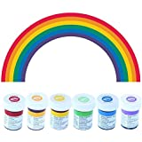 Wilton Icing Colour Gel Paste Rainbow Colours Set - 6 x 28g pots