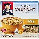 Quaker, Warm & Crunchy Granola, Honey Almond, 13.5oz Box (Pack Of 4)