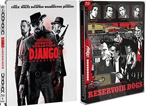 Mondo Steelbook RESERVOIR DOGS Exclusive & Django Unchained Limited Edition Steelbook [Blu-ray] Quentin Tarantino Set