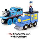 Thomas & Friends Wooden Railway Thomas with Free Conductor Carl Train