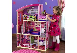 Kidkraft Wooden Modern Dream Glitter Dollhouse fits barbie
