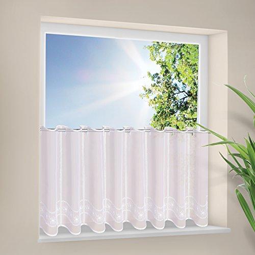 Gardine-Panneau-Scheibengardine-Bistrogardine-FLORINA-Landhausstil-modernes-Wohnen-BH-142-x-45cm-bestickte-Bistrogardine-transparente-Qualitt