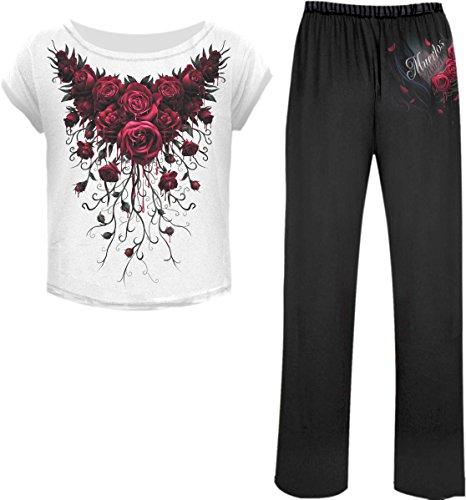 Spiral Blood Rose Pigiama nero L