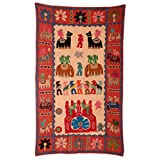 Rajrang Home Décor Embroidered Patch Work Brown Wall Hanging