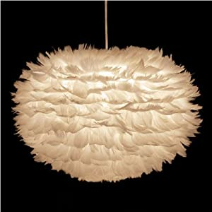 Eos Pendant Ceiling Shade Ceiling Feather Light White - 45 cm - with electrical cord set