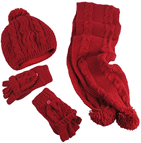 nice-caps-womens-bulky-cable-knit-hat-scarf-converter-glove-set-womens-one-size-fits-all-red