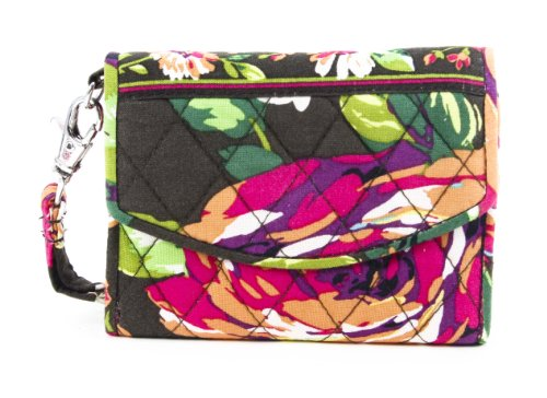 Vera Bradley English Rose Super Smart Wristlet Wallet