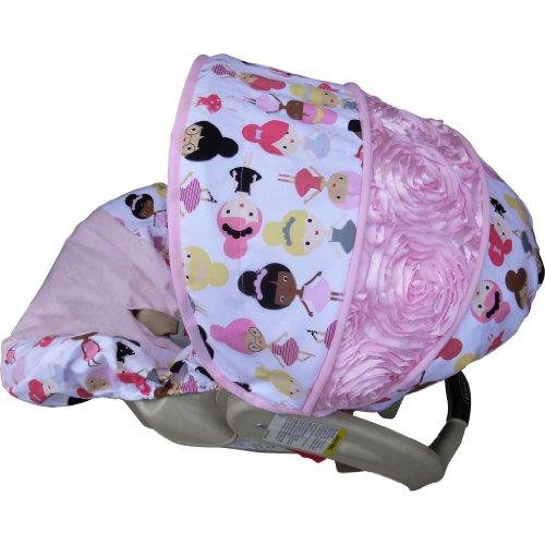 Ballet Slipper Rose Infant Car Seat Cover front-18020