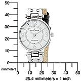 AK Anne Klein Women's 109443WTGY Silver-Tone Grey Leather Strap Watch