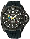 Seiko Black Velatura Chronograph Kinetic Direct Drive SRH013P1