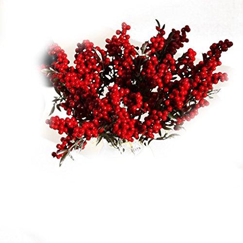 lufa-artificial-beans-flowers-bouquet-auspicious-christmas-home-decor-plant-berries-red-1pcs