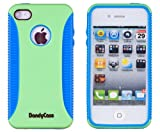 51gesGyHULL. SL160  Body Armor Case for Apple iPhone 4, 4S (AT&T, Verizon, Sprint)   Blue/Green
