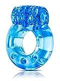 Eden Stretchy Reusable Vibrating Cock Ring (Blue)