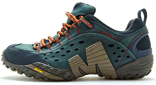 Merrell Intercept Hiking Shoes in Dark Petroleum Green J559593 [UK 6.5 EU 40]