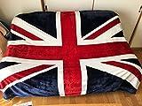 イギリス 英国 ユニオンジャック ふんわり あったか 毛布 ブランケット スタイリッシュ 160 × 200 cm(02 イギリス 160×200)