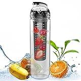 AVOIN colorlife 27oz. Sport Tritan Fruit Infuser Water Bottle Many Color Option - BPA Free