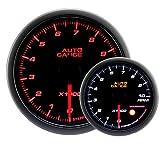 AUTOGAUGE(オートゲージ) 日本製モーター 52mm タコメーター 2色バックライト ワーニング付 シンプルファンクション 430シリーズ