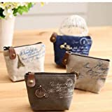 Popular High Quality Ladies Retro Classic Nostalgic Sackcloth Coin Case Purses