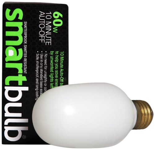 Smart Electric 200 10-Minute Auto-Off 60-Watt Incandescent Smart Timer Bulb With Standard Base Socket, Shatter Resistant, Soft White
