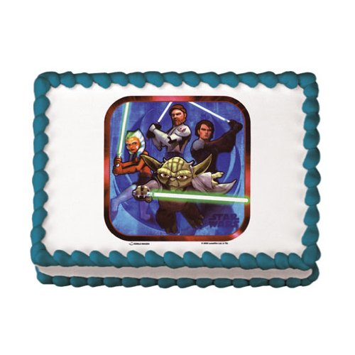 Star Wars Edible Image Cake Decoration