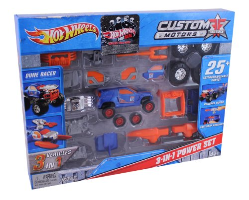 Hot Wheels Custom Motors Full Force 3-In-1 Dune Racer Power Set
