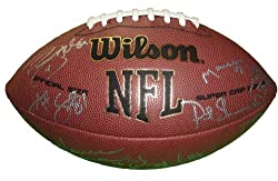 2011 Cleveland Browns Team Autographed NFL Wilson Composite Football with 31 Signatures Total, Proof Photos