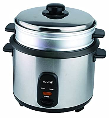 Saachi RC200 10 Cup Automatic Rice Cooker (Uncooked) with Keep Warm, Stainless Steel and Non-Stick Pot, Silver from Saachi