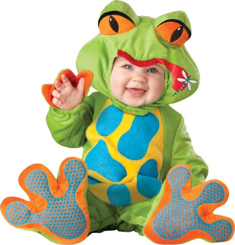 InCharacter Unisex-baby Newborn Froggy Costume, Green/Blue/Yellow/Orange, Small
