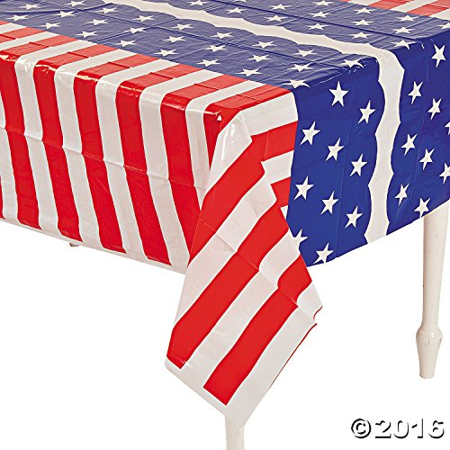 GIFTEXPRESS® Set of 2, Plastic Stars & Stripes Tablecloth/ 4th of July tablecloth/Patriotic Table Cover/Patriotic Tablecloth/Red White Blue Tablecloth/Red White Blue Tablecover