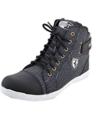 SRV Mens Black Ankle Length Casual Shoes