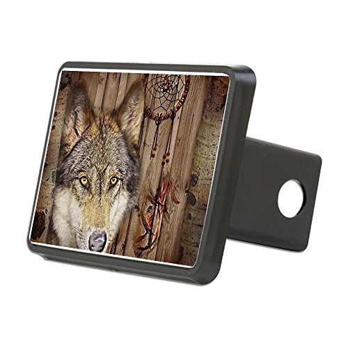 CafePress - Native Dream Catcher Wolf - Trailer Hitch Cover, Truck Receiver Hitch Plug Insert (Wolf Trailer Hitch Cover compare prices)