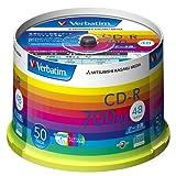 三菱化学メディア Verbatim CD-R 700MB 1回記録用 48倍速 スピンドルケース 50枚パック ワイド印刷対応 ホワイトレーベル SR80SP50V1 ランキングお取り寄せ