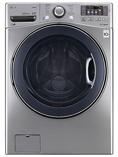 LG WM3570HVA 27-Inch Front-Load Washer with 4.3 Cubic Feet Capacity, Graphite Steel