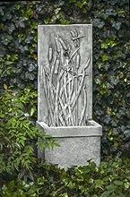 Dragonfly Cast Stone Wall Fountain Finish Alpine Stone
