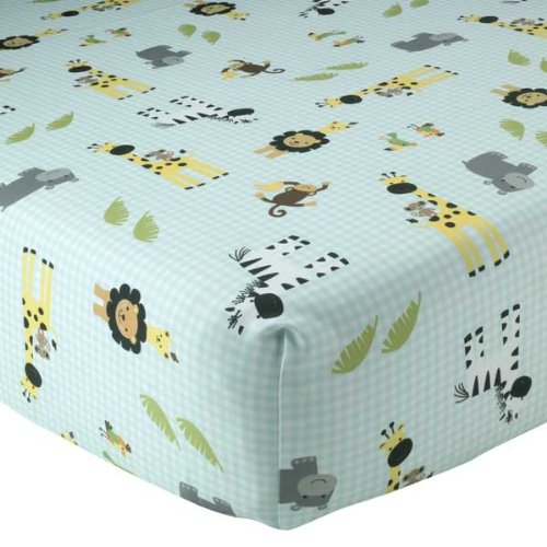 Lambs & Ivy Peek A Boo Jungle Fitted Sheet