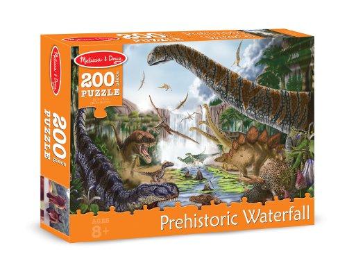 Melissa & Doug Prehistoric Waterfall Cardboard Jigsaw Puzzle, 200-Piece