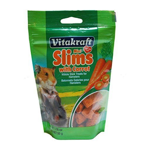 Vitakraft Hamster Mini Slims with Carrot Nibble Stick Treat, 1.76 Ounce Pouch 51gfDS69n2L